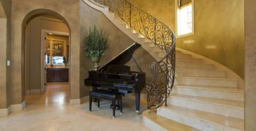 Crema Marfil marble staircase