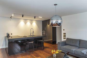 Design kitchen with Black Zimbabwe granite.
