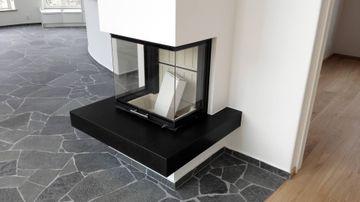 Nero Assoluto granit kamin