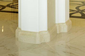 Crema Marfil profiled marble skirting