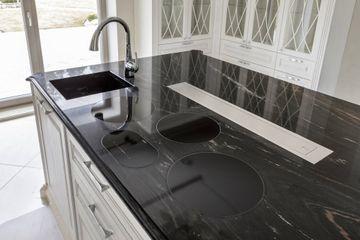 Portorose kitchen top with stone sink
