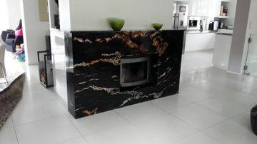 Black fusion granit kamin